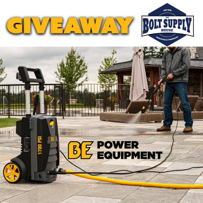 BE Power Equipment power washer giveaway